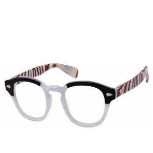 Accessories - Zebra black white plastic edgy eyeglass frames